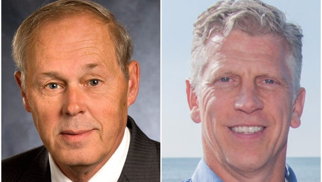 Ron Nesbitt (left) and John Hutchings (right) are in contention for Webster Town Supervisor