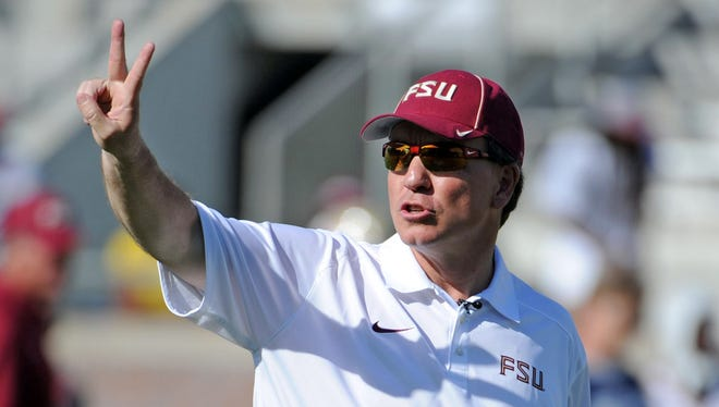 Florida State football head coach Jimbo Fisher defended quarterback Jameis Winston in comments Monday.