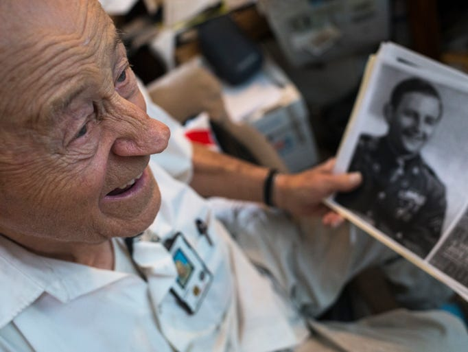 A portrait of Pearl Harbor survivor Maurice Storck