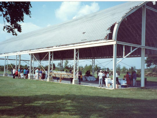 The Grounds for Sculpture's Museum Building during the first opening event in Hamilton  on June 6, 1992.