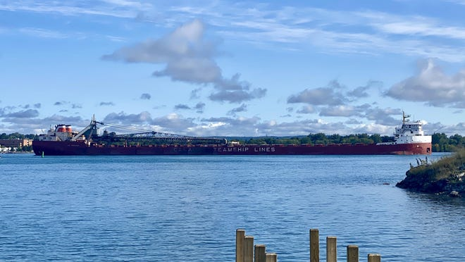 The CSL Tadoussac, as pictured on the St. Mary's River on the morning of Thursday, Sept. 10, 2020.