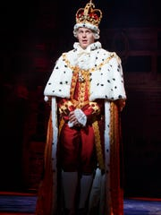 King George III is played by Jonathan Groff.