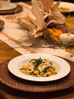 The seasonal pumpkin gnocchi offered in the Fall at Quiessence at The Farm at South Mountain.