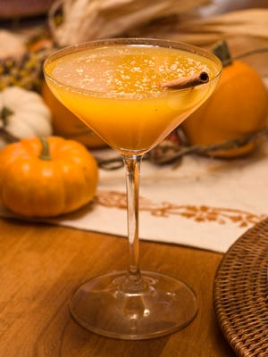 The seasonal pumpkin martini offered in the Fall at Quiessence at The Farm at South Mountain.