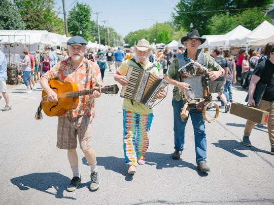 Artsfest on Walnut Street in Springfield, Mo. on May