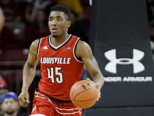 Louisville guard Donovan Mitchell.
