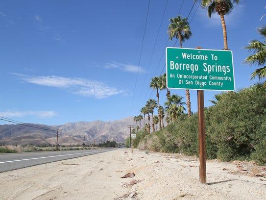 Borrego Springs relies on a declining aquifer.