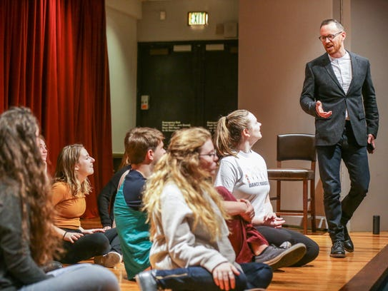 Actors in the Young Actors Theatre take instruction