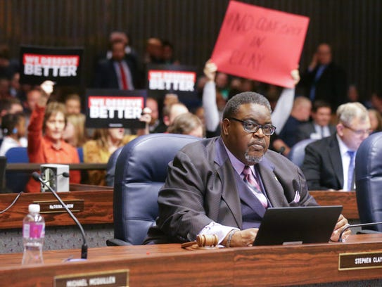 City-County Council President Stephen Clay calls a