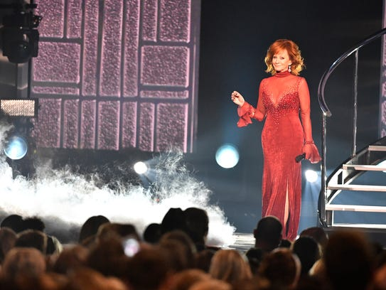 Host Reba McEntire performs during the 53rd Academy