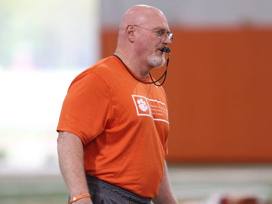 Clemson strength and conditioning coach Joey Batson