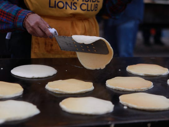The Lions Club Pancake Breakfast.
