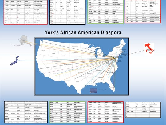 York's African American diaspora, as compiled by Jeff Kirkland.