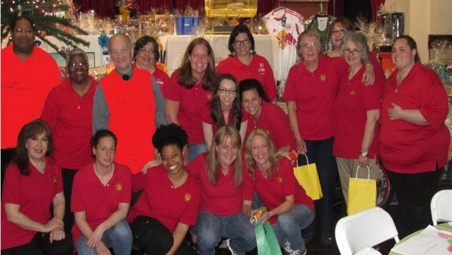 Faculty and staff of St. Mark's Lutheran School at the 2014 Penny Social.