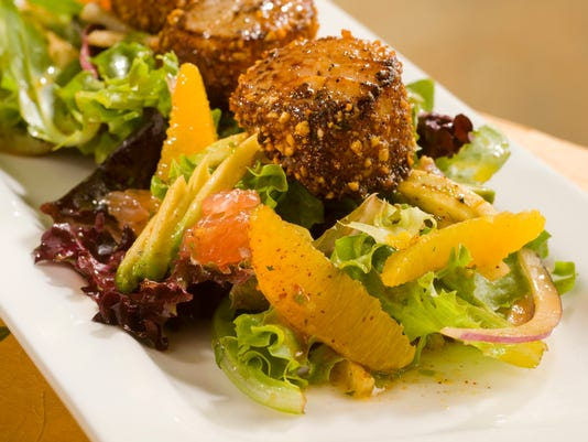 Avocado Citrus Salad with Peanut Chile Crusted Scallops.jpg