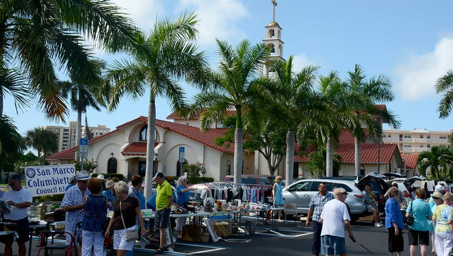 The San Marco Columbiettes hosted Treasures in the Trunk on Saturday morning, bringing out hundreds of bargain hunters.