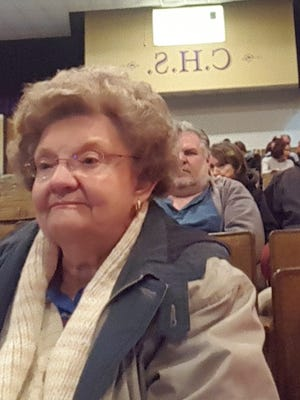 Crisfield resident Judy Schoffstall listens to City Council members discuss a proposed zoning amendment before it was voted down 3-2.