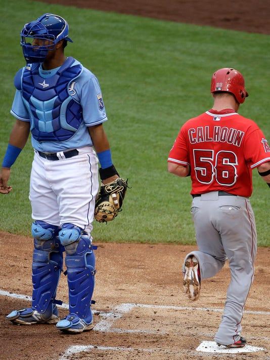 Angels Royals Baseball (2)