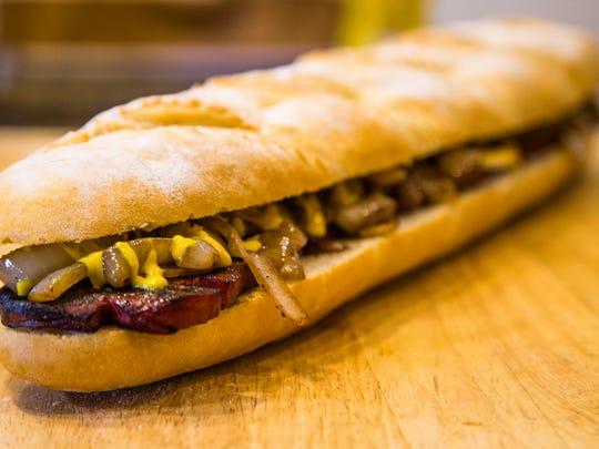 Char Salami Sandwich.