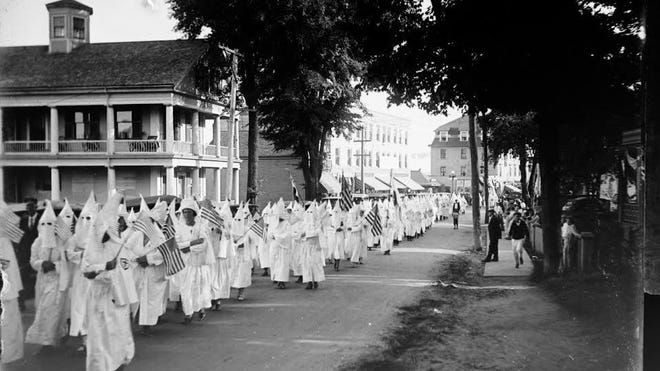 In the mid-1920s, 400 klansmen marched through Kittery Foreside. At the time, membership of the KKK in Maine neared 40,000.