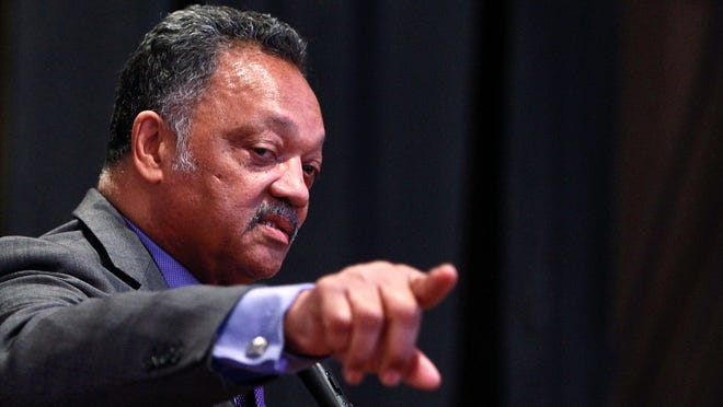 April 3, 2016 - Rev. Jesse Jackson speaks about Rev. Samuel Billy Kyles during a program that honored the legacy of the former Monumental Baptist Church pastor and civil rights leader. (Mike Brown/The Commercial Appeal)
