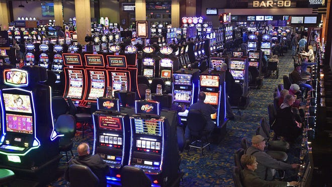 This is a Feburary 2017 file photo of patrons on the game floor at Presque Isle Downs and Casino in Summit Township.