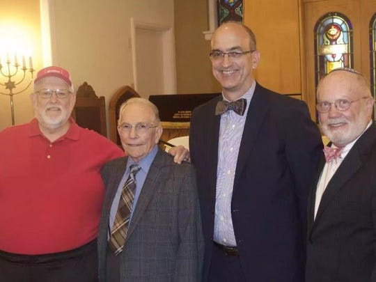 Dr. Charles Page, Dr. George Guthrie, Dr. Gene Davenport and Rabbi-Cantor John Kaplan were panelists together during an inter-faith discussion.