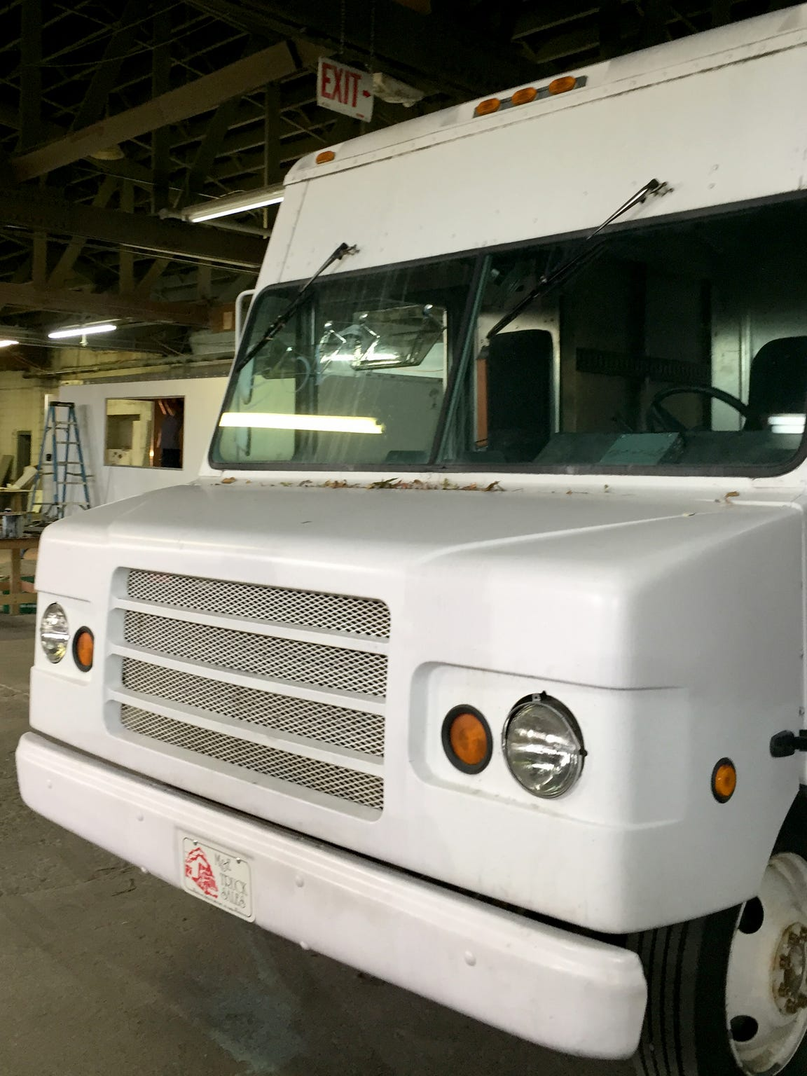 Boston restaurateurs paid a $42,500 deposit to M Design Vehicles for their food truck. This is the truck they were promised, shown in M Design's former Norman Street garage.