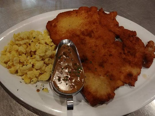 Schnitzel and spaetzle from the new Bavarian Ale House in Fort Myers.