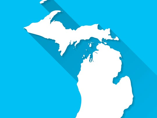 Map of Michigan.