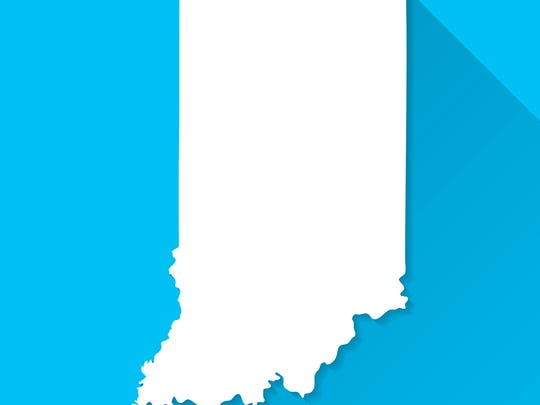Map of Indiana.