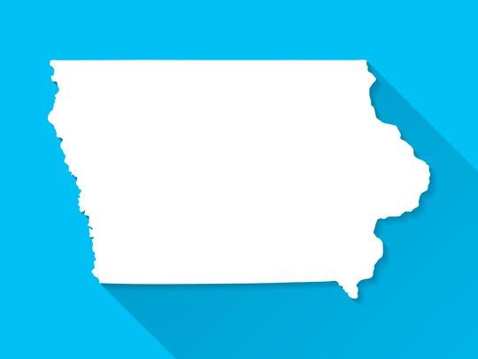 Map of Iowa.