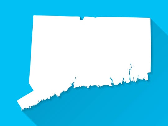 Map of Connecticut.