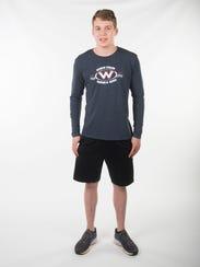 Coleman Kredich, West High School swim. Monday, March
