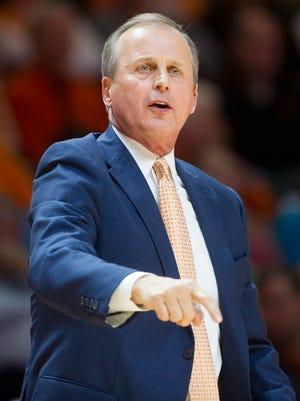 Coach Rick Barnes' Vols team is coming off a 16-16 record last season.