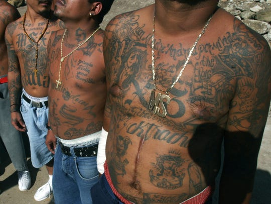 MS-13 gang members in Tegucigalpa, Honduras, in 2005