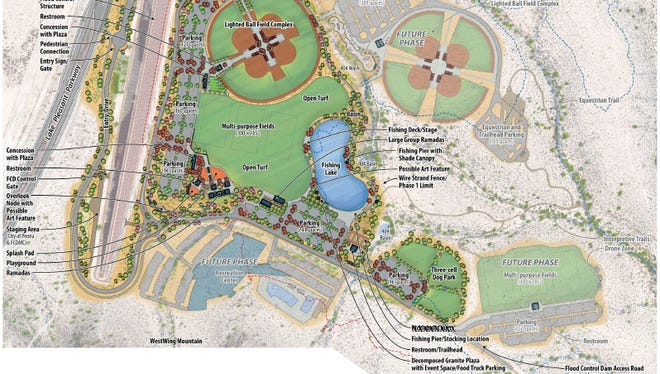 Peoria will call its newest regional park, near Lake Pleasant Parkway and Loop 303, Paloma Community Park. Paloma means dove in Spanish.