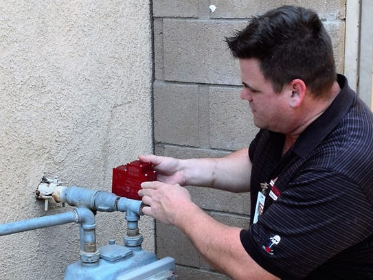 A Licensed Plumber can install a gas shut off valve.