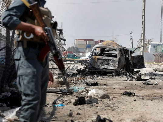 Suicide car bombing in Kabul, Afghanistan on March 17, 2018