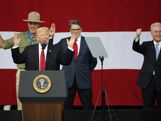 Donald Trump,Tom Price,Rick Perry,Ryan Zinke