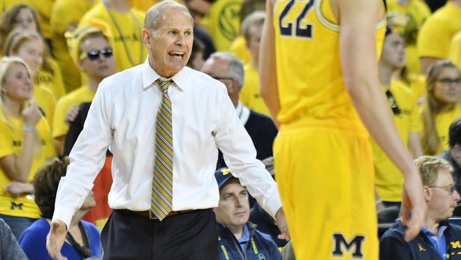 "Michigan coach John Beilein said the Pistons head-coaching job was tempting but, in the end, ""I love Michigan."""