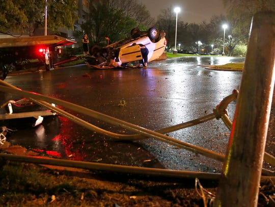 A 47-year-old Florence man crashed his vehicle after