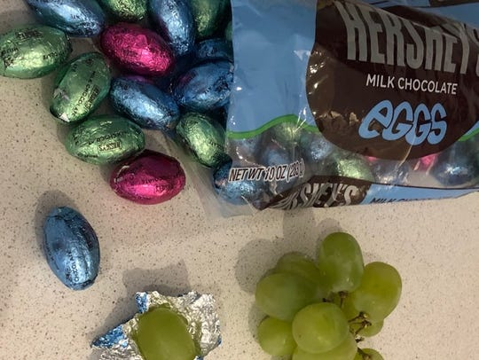 Martin County, Fla., mom Jac McManus is wrapping grapes in foil this Easter for one of her April Fools' Day jokes.