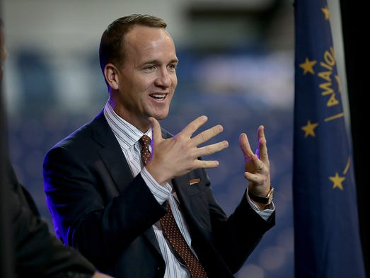 Former Indianapolis Colts quarterback Peyton Manning