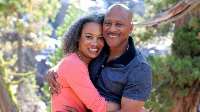 Rod Gilmore,  college football analyst and lawyer, with his wife Marie. Gilmore was diagnosed with Multiple myeloma in 2016.