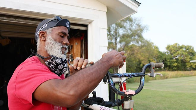 When a neighbor needs someone to fix a bike, Everett Bradley can't say no. He once worked for a bicycle repair shop in downtown, before his own garage filled with bicycles and repair projects.