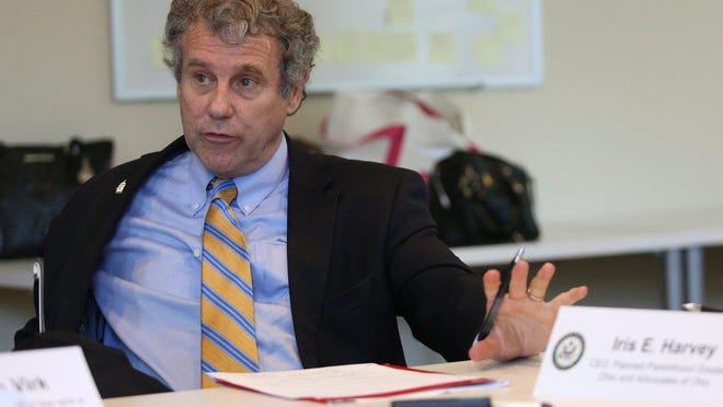 Senator Sherrod Brown shares his thoughts on the Trump Administration pulling funding from women's clinics during a roundtable discussion with Planned Parenthood of Greater Ohio health-care providers and patients at Comprehensive Women's Care in Columbus in September 2019.