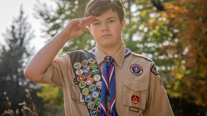 """Tieren """"TJ"""" Mann, a senior at West Ottawa High School, recently earned the honor of Eagle Scout."""