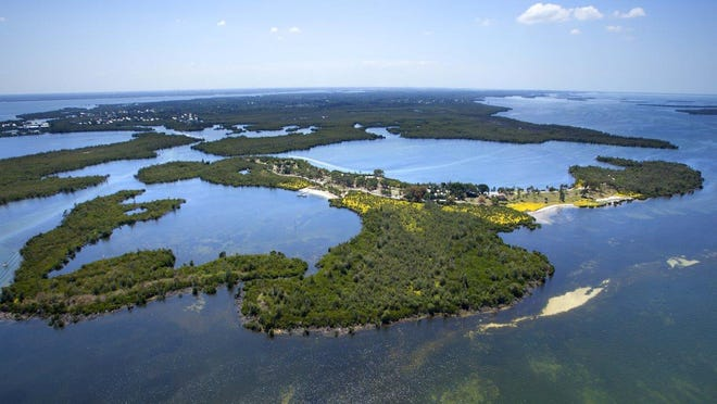 """Real estate agent Klaus Lang is asking potential buyers to """"present your best offers"""" on the 104-acre island with a mansion and guest house"""