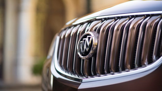 2016 Buick Enclave Tuscan edition highlighted by a bronze-tone grille.